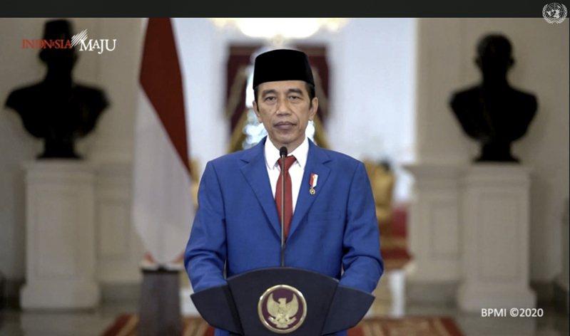 印尼總統佐科威(Joko Widodo)今天第一次在聯合國大會發表演說。美聯社
