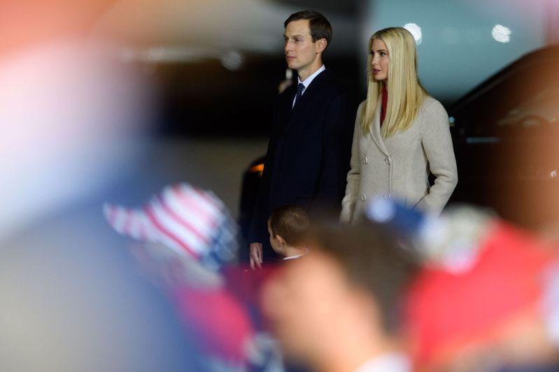 美國總統川普女婿庫許納(左)。法新社