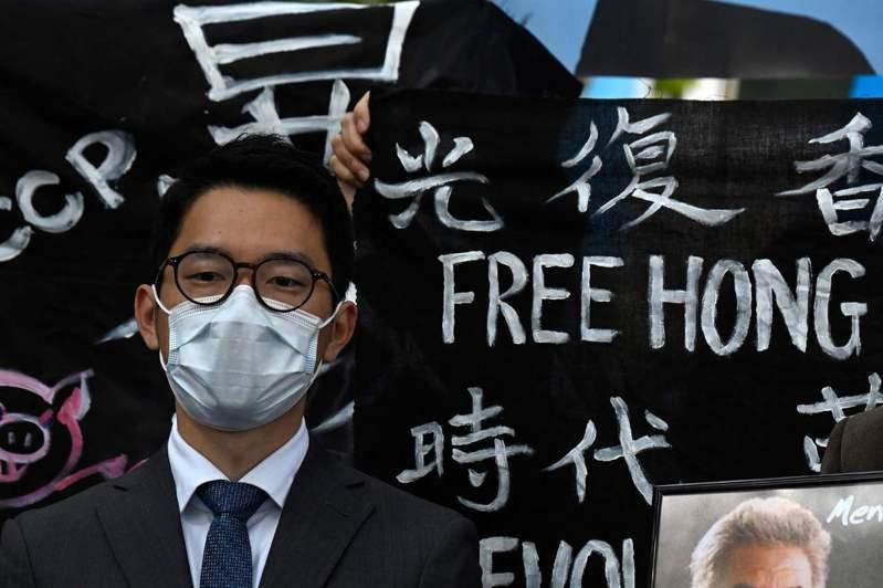時代雜誌公布全球百大影響力人物中,流亡英國的香港年輕民運人士羅冠聰獲選。法新社
