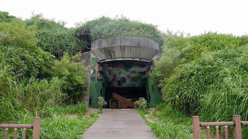 戰備坑道的終點外觀。
