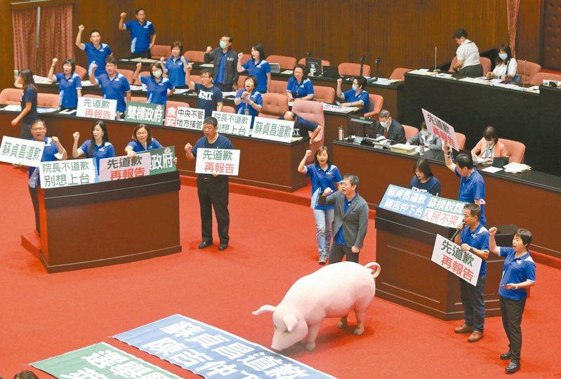 立院昨邀蘇揆施政報告並備詢,但遭藍營杯葛。記者胡經周/攝影