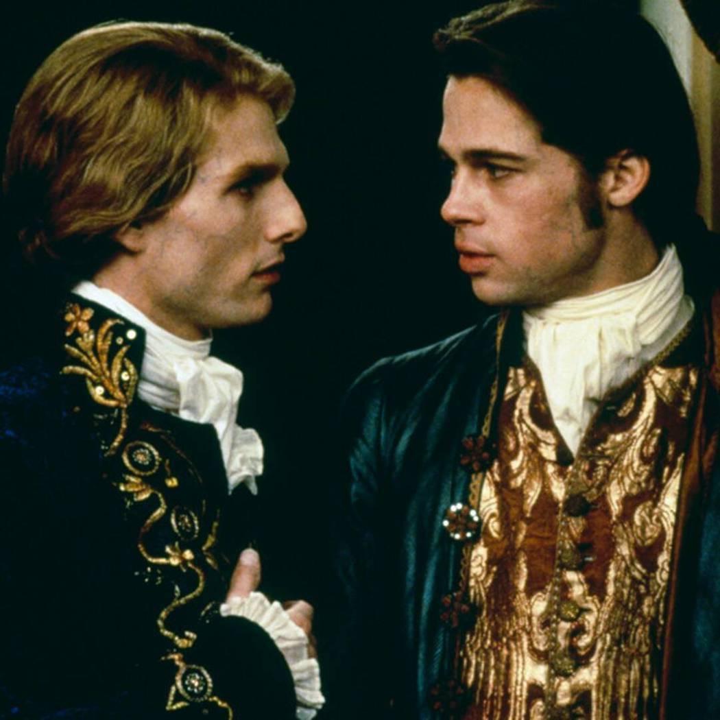 湯姆克魯斯(左)與布萊德彼特在拍「夜訪吸血鬼」時盛傳關係不佳。圖/摘自imdb