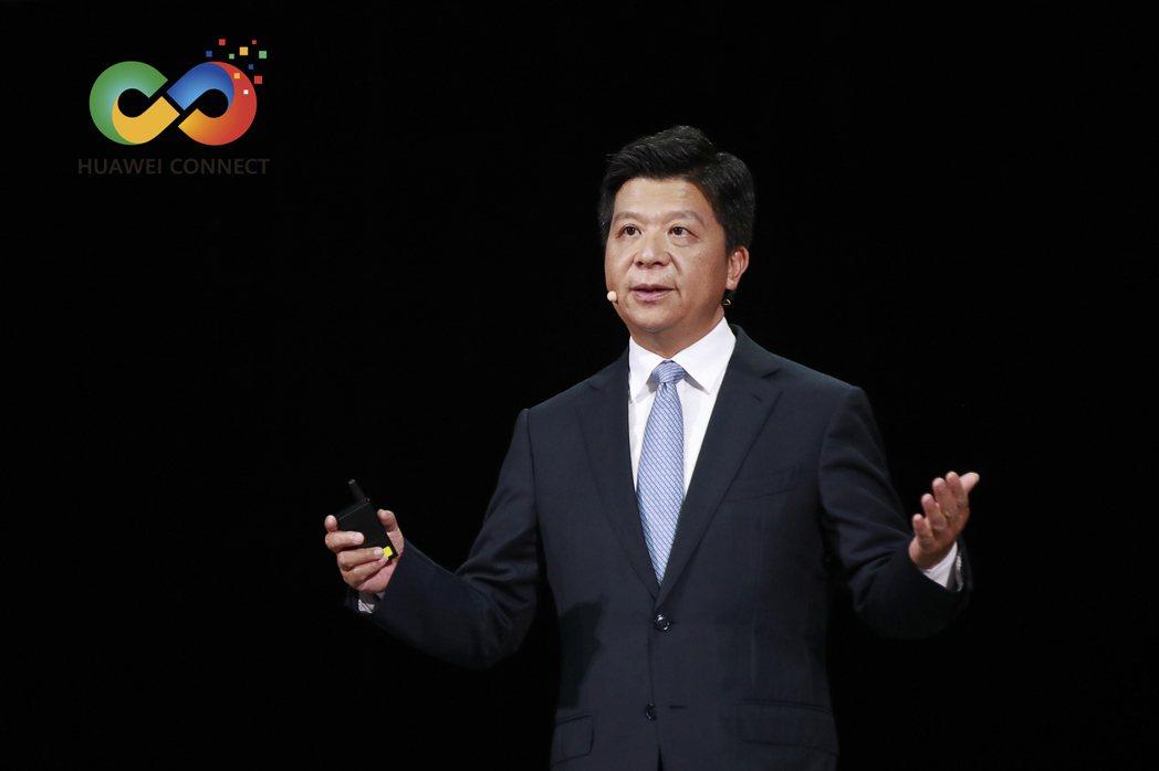 華為輪值董事長郭平。(取自上海《第一財經》)