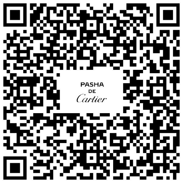 卡地亞PASHA DE CARTIER探索自我特展線上預約QRcode。圖/卡地...