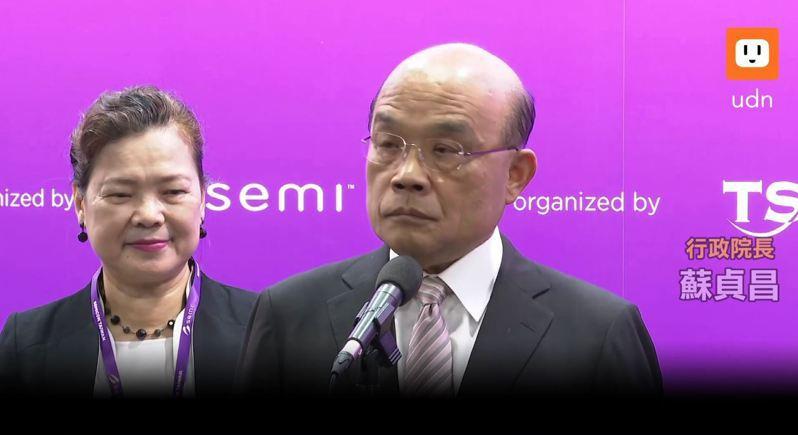對於蔡煌瑯的說法,行政院長蘇貞昌表示僅說尊重,並強調法律之前人人平等,國人都應守法,政府官員更要做表率,任何涉及不法都支持檢調偵辦。取自UDNTV