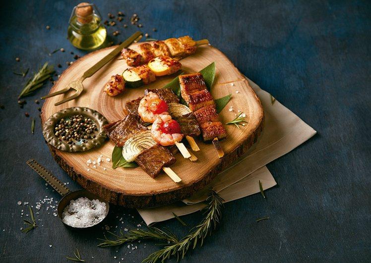 美福食集首度推出中秋烤串系列。圖/美福食集提供