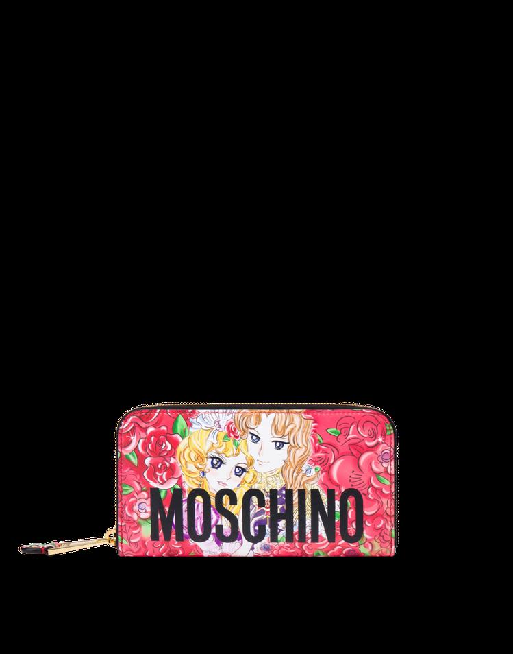 Moschino秋冬系列凡爾賽玫瑰長夾25,300元。