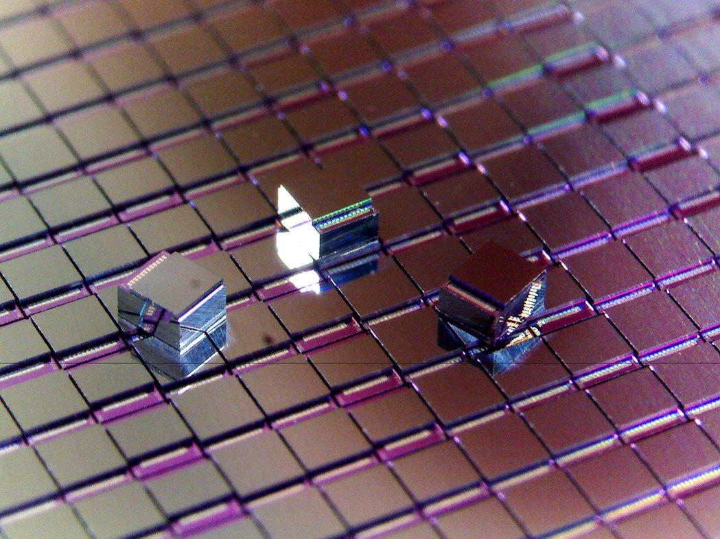 中光電智能感測的壓電式MEMS震動感測器晶片。圖/業者提供