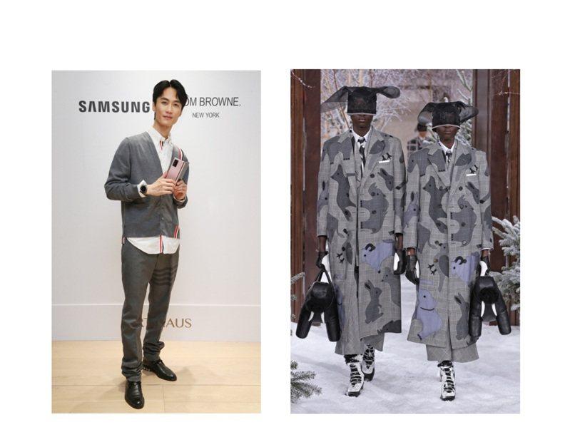 李英宏出席THOM BROWNE x三星Galaxy Z Fold2限量版及秋冬男女裝新品發表。圖/記者曾學仁攝影、ART HAUS提供