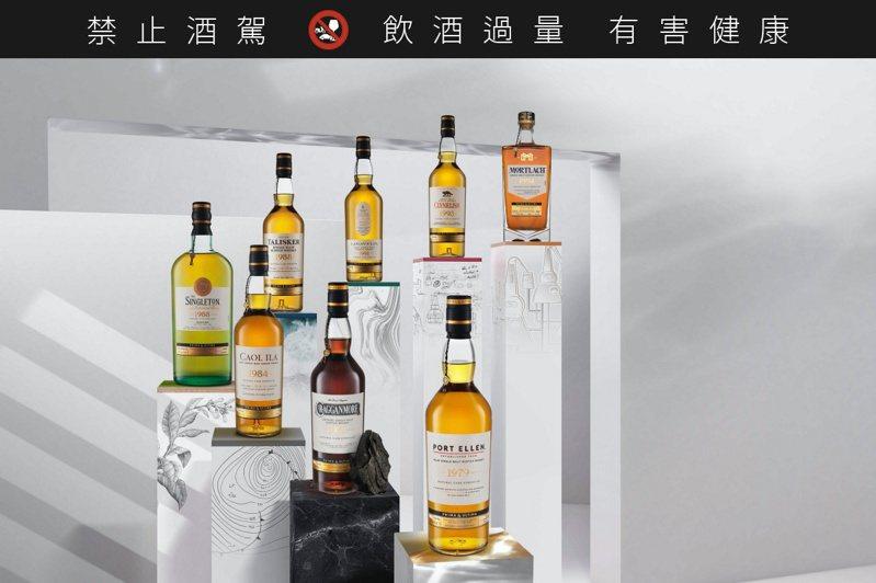 帝亞吉歐極奢原酒一套8支,全台限量37套,一套72萬元。圖/帝亞吉歐提供。提醒您:禁止酒駕 飲酒過量有礙健康。