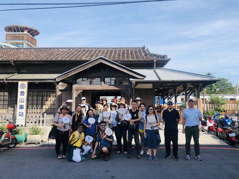 新竹市小塹有約輕旅行10月推出香山走透透行程,可走訪香山火車站等景點深度旅遊。圖/新竹市府提供