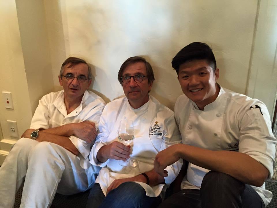 林恬耀(右)在樂沐期間曾遇撞牆期,便至國外餐廳學習。圖/林恬耀提供