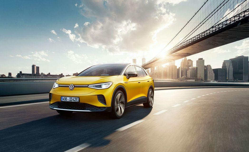 Volkswagen ID.4最大續航距離可達520公里。 摘自Volkswag...