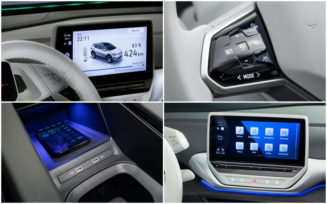 Volkswagen ID.4內裝感具備前衛與科技化設計。 摘自Volkswag...