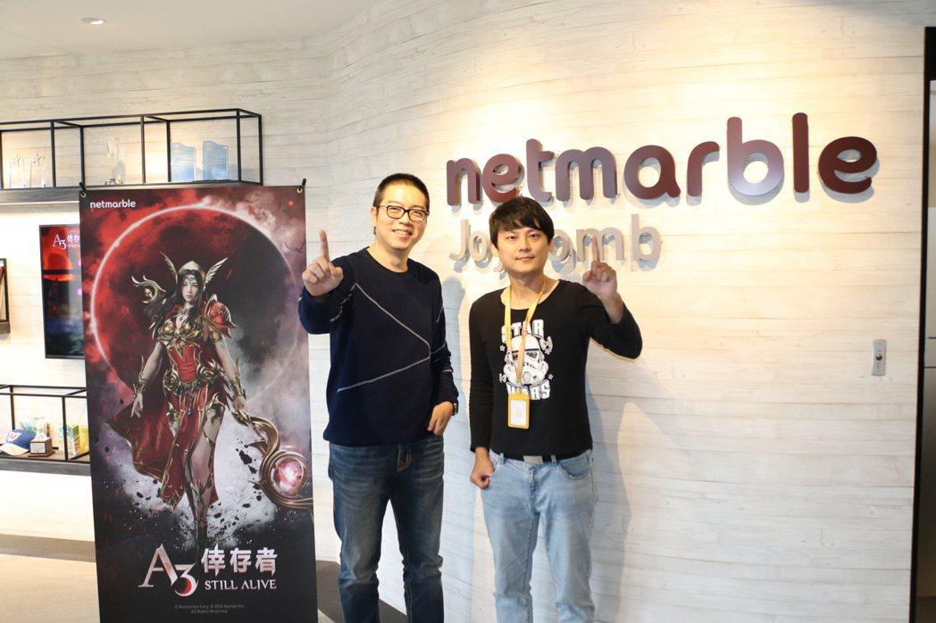 網石棒辣椒總經理林大鈞(左)與本作專案經理謝瑞晟(右)