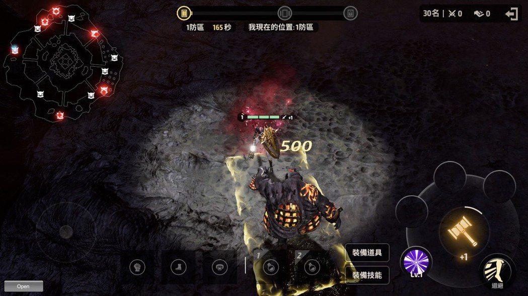 玩家可以透過農怪升級,增強實力 (此為開發中測試畫面)