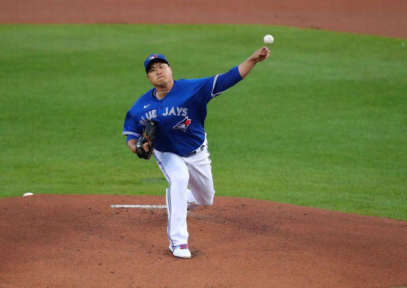 柳賢振7局無失分壓制洋基,藍鳥奪下第30勝挺進季後賽。 法新社