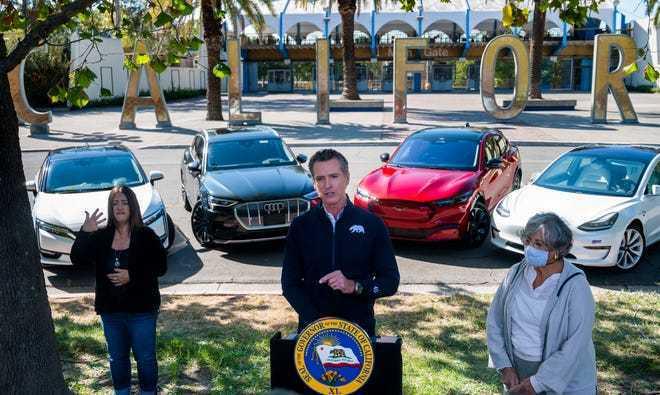 美國加州將自2035年起禁售新出廠汽油車。 摘自usatoday.com