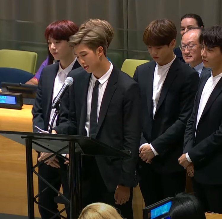 聯合國兒童基金會(UNICEF)公布BTS防彈少年團演說影片。圖/擷自臉書