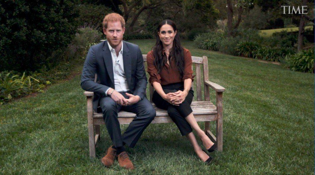 哈利王子與梅根。取自時代雜誌