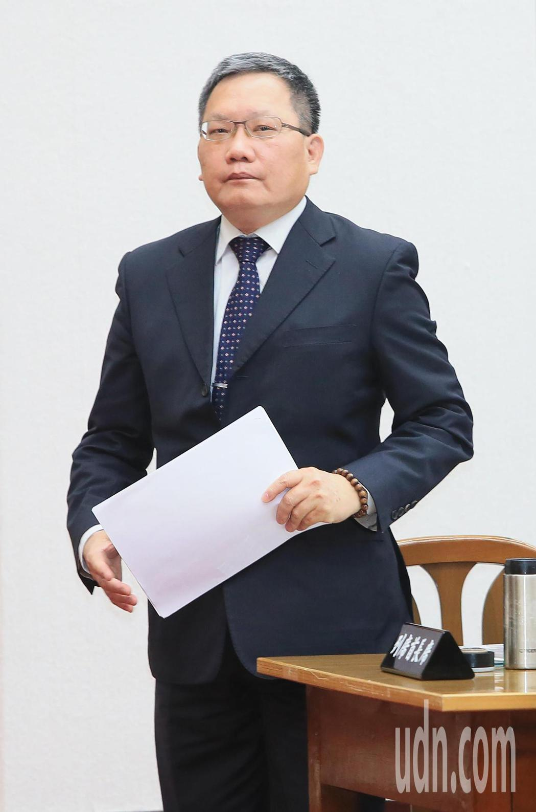 財政部長蘇建榮今天出席立法院財政委員會答詢。記者潘俊宏/攝影