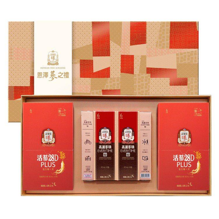 「恩澤蔘之禮」網路限定禮盒,滋潤能量價1,480元。圖/台灣正官庄提供