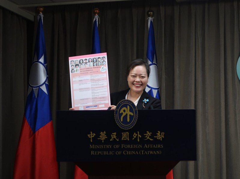 外交部NGO國際事務會執行長王雪虹。記者徐偉真/攝影
