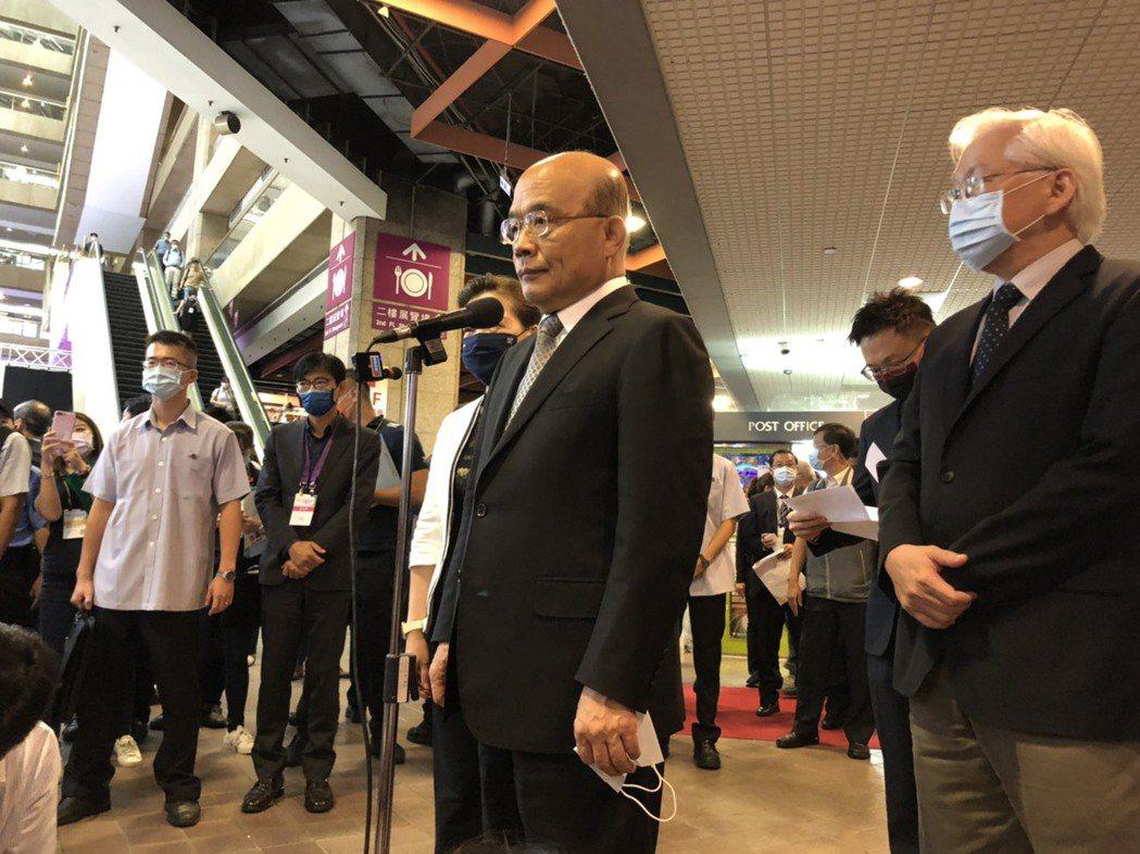 蘇貞昌下午出席「2020台灣創新技術博覽會」開幕典禮。記者賴于榛/攝影