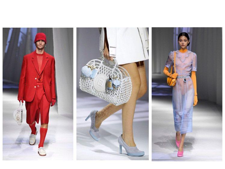 FENDI發表2021春夏男、女裝。圖/FENDI提供