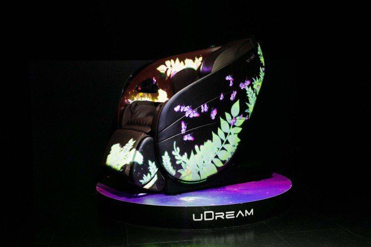 體驗會場以特殊光雕投影為uDream 5感養身椅打造華麗開場,感受新品設計原理。...