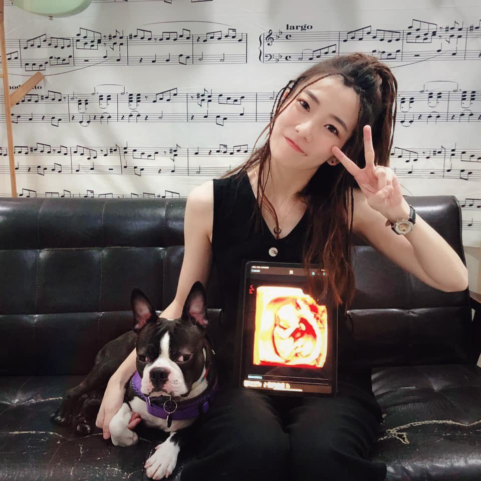 羅小白宣布懷孕3個月。圖/摘自臉書