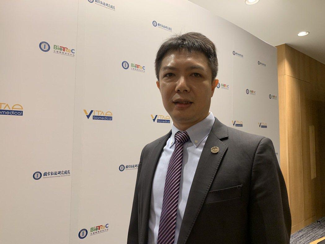 微體生醫總經理李亦書。記者謝柏宏/攝影
