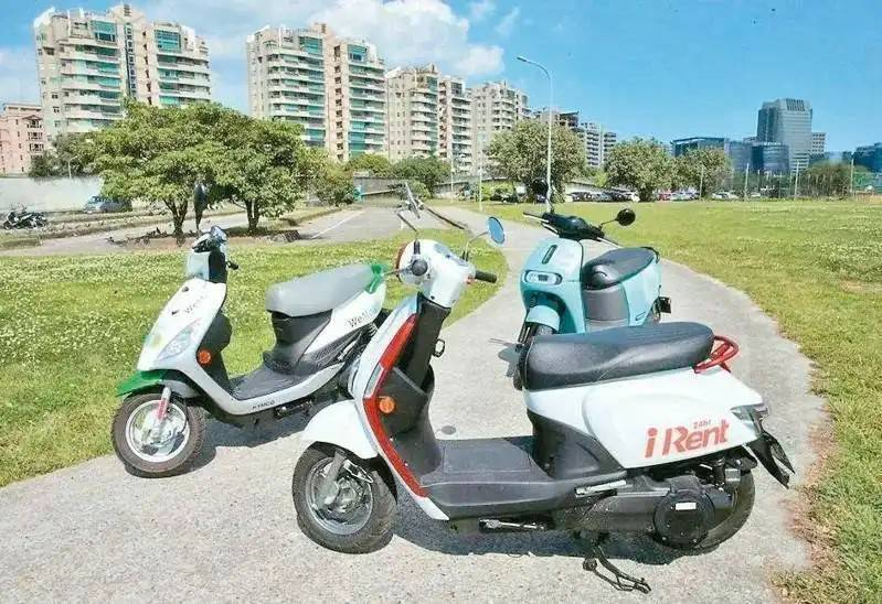 目前台北市共享機車業者主要有GoShare、iRent及WeMo三家。 圖/聯合報系資料照片