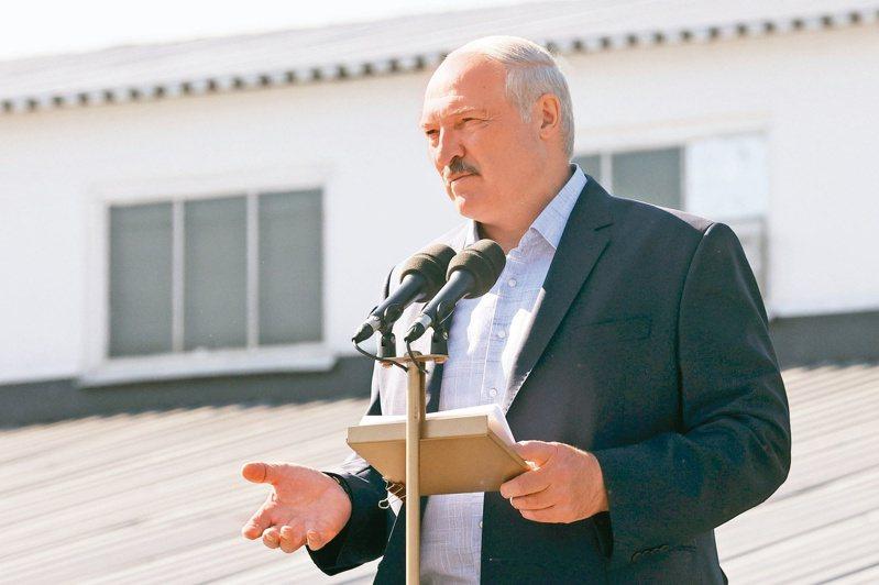 魯卡申柯廿三日的祕密總統就職典禮引發西方國家新一波譴責。 (美聯社)