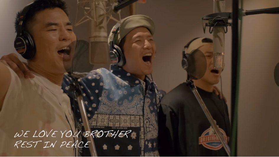 小鬼生前與好友柯有倫、竇智孔合唱新歌「扛得住」。圖/擷自YouTube