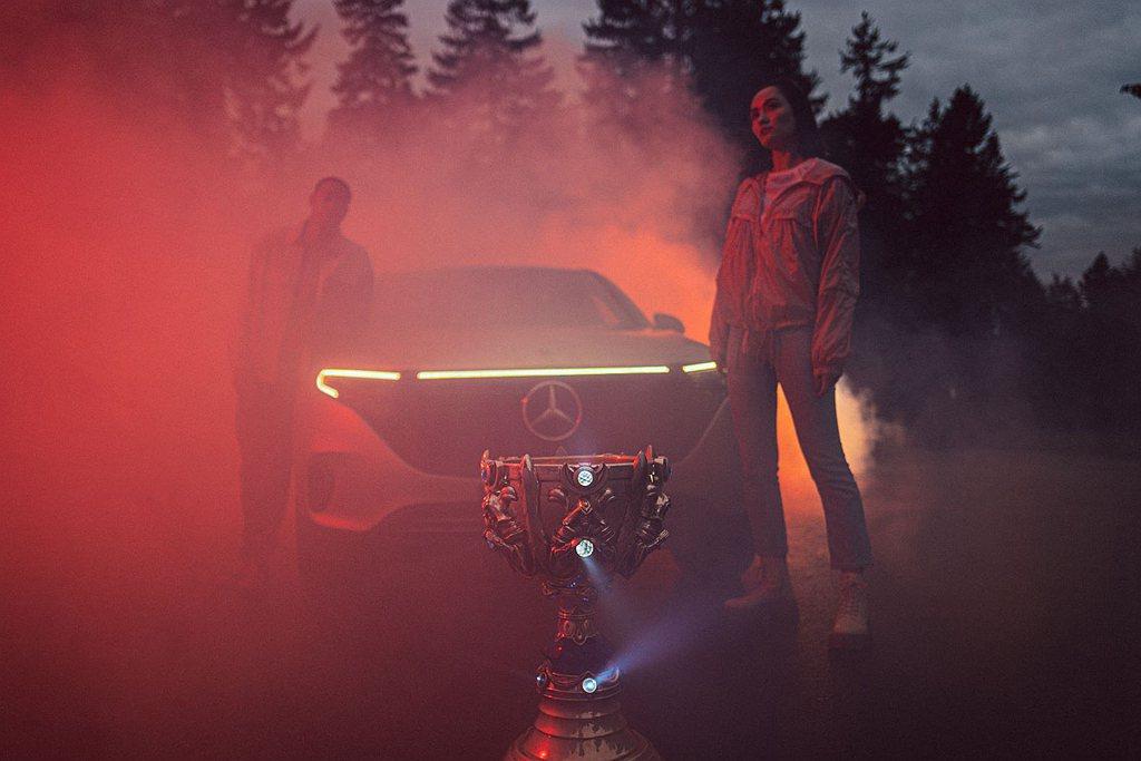 賓士攜手《英雄聯盟》 成為全球賽事獨家汽車品牌合作夥伴。 圖/Mercedes-...