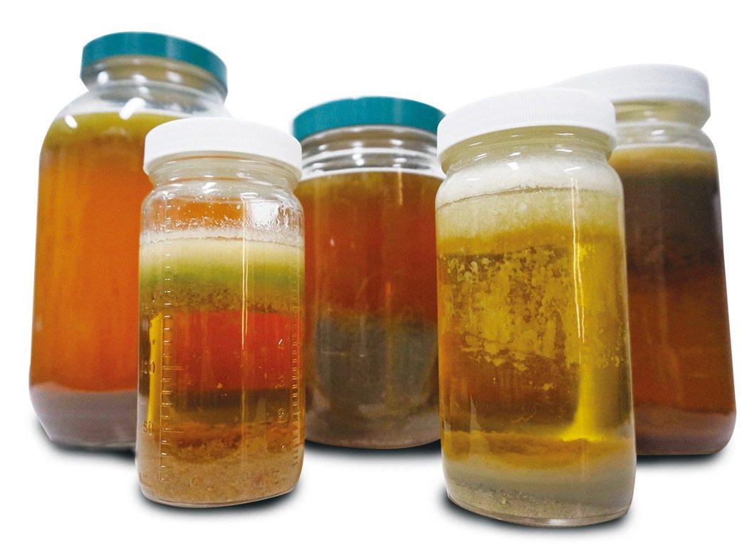 將魚的腸道以氫氧化鉀(KOH)進行消化分解作用,再加入飽和食鹽水,提高溶液密度,...