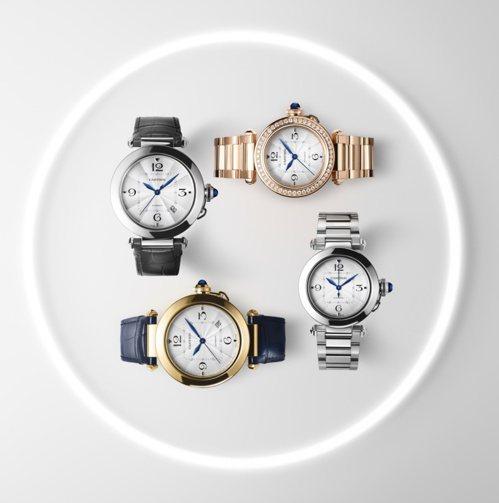 卡地亞今年改版上市的Pasha de Cartier全系列表款都搭載快拆系統。 ...