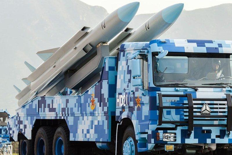 中國解放軍的鷹擊-12反艦導彈。 圖/聯合報系資料照