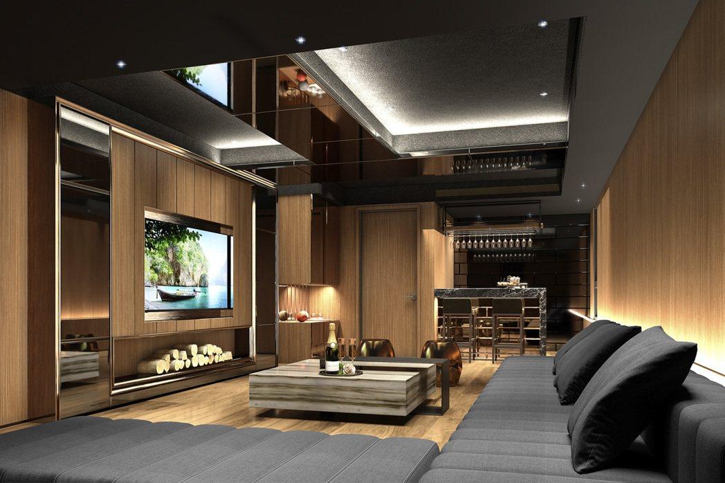 「冠德泰景」擁有完善樂活的歡聚空間。圖/業者提供