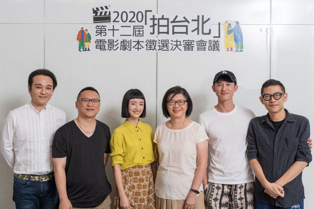 第十二屆「拍台北」電影劇本徵選決審會議評審委員吳明憲(左起)、湯昇榮、林依晨、會