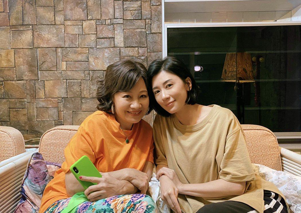 睽違10年回歸小螢幕,比莉新作與賈靜雯扮母女。圖/草舍文化提供