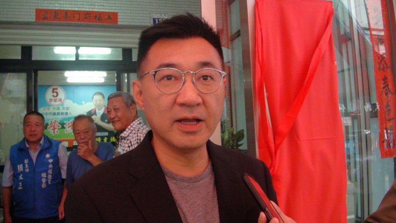 國民黨主席江啟臣。聯合報系記者余采瀅/攝影