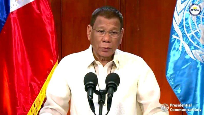 菲律賓總統杜特蒂(Rodrigo Duterte) 美聯社
