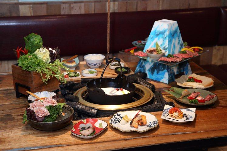 敦南店獨家推出的「富士山.無菜單料理套餐」,共有20款料理,每人900元。記者陳...