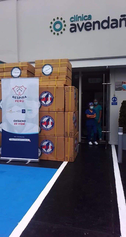 放置在秘魯Avendaño診所的物資。圖/屏東縣政府提供