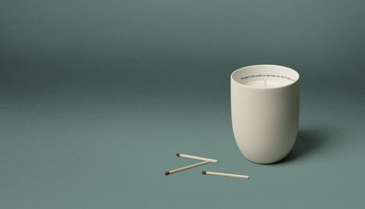 Aesop室內芳香蠟燭-托勒密/300g/3,300元。圖/Aesop提供