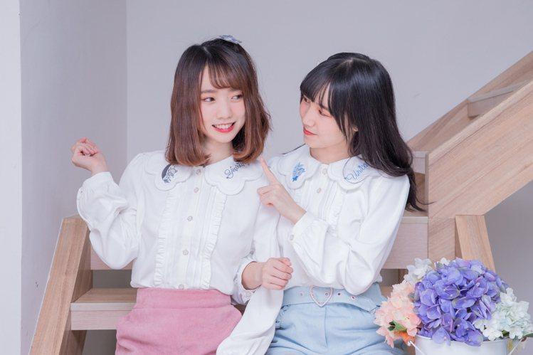 露比午茶AKB48 Team TP聯名系列動物刺繡娃娃領長袖上衣1,180元。圖...
