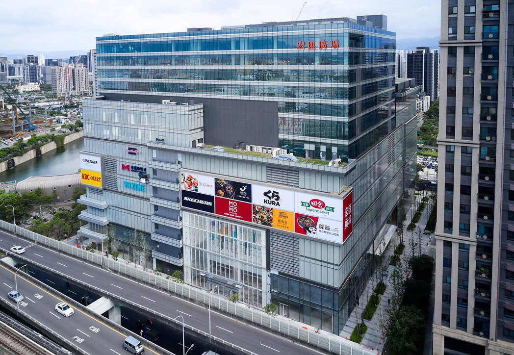 宏匯廣場外觀,9月26日將正式開幕。宏匯廣場/提供