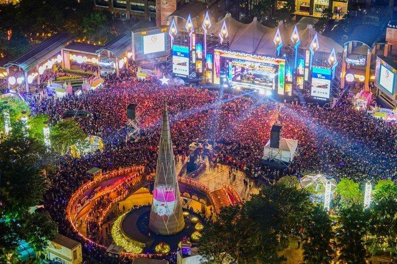 新北歡樂耶誕城去年統計有618萬人次造訪,再創新高。圖/觀旅局提供